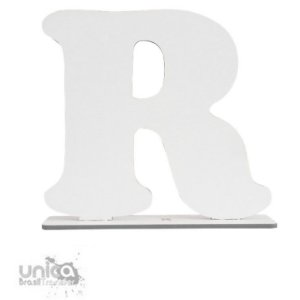 Letra R Resinado de MDF