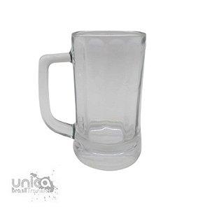 Caneca Chopp em Vidro Cristal Canelada Interna - 350ml