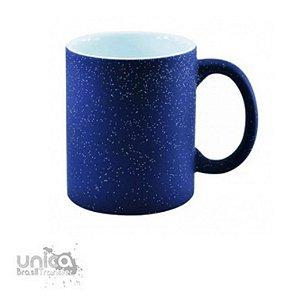 Caneca Magica Azul Com Glitter 325ml