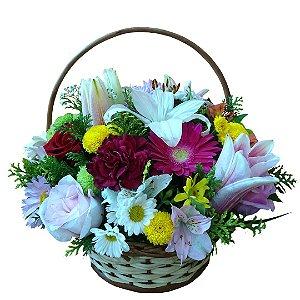Cesta com Flores Nobres