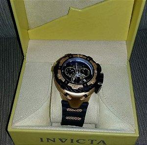 28e22e3ab89 Réplica de Relógio Invicta Thunderbolt Borracha 21353 Preto Gold Lançamento