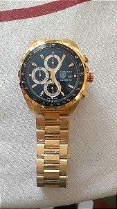 fa6fd836462 Réplica de Relógio Tag Heuer F1 Calibre 16 Dourado