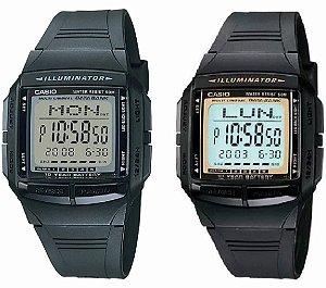 6057d446e5e Relógio Casio Vintage Multi Lingual Data Bank