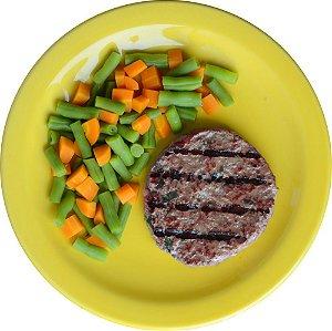 Hambúrguer de Patinho e Mix de Legumes