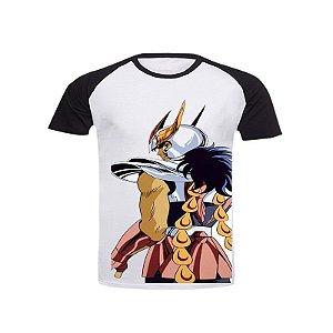 Camiseta Raglan Cavaleiros do Zodíaco Ikki de Fênix