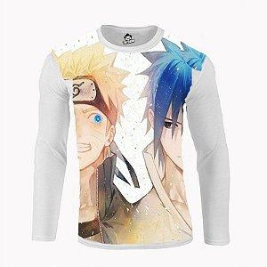 Camiseta Manga Longa Naruto & Sasuke