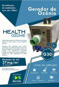 Gerador de ozônio até 37mg - Health Ozone