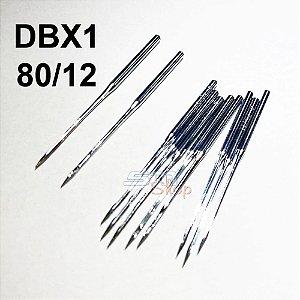 10 Agulhas DBX1 80/12 para Máquinas de Costura e Bordado Industrial