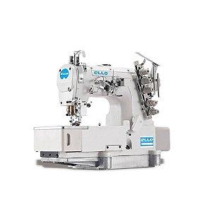 Máquina de Costura Galoneira Industrial Ello EL-2500BDI 3 agulhas Direct Drive