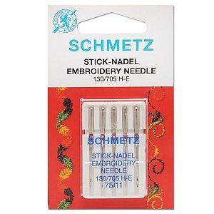 Agulha Schmetz Embroidery 75/11 para Máquinas de Bordado e Costura