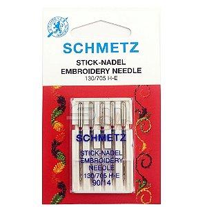 Agulha Schmetz Embroidery 90-14 para Máquinas de Bordado e Costura