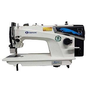 Máquina de Costura Reta Industrial Sansei SA-MQ1 Direct Drive com Kit Calcadores + Bobinas + Agulhas