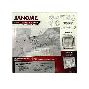 Kit Bastidor Janome Acufil Quilting para Máquina de Bordado Mc500e e Mc400e