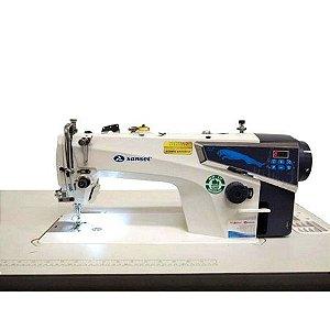 Máquina de Costura Reta Industrial Sansei SA-MQ2 Direct Drive com Kit Calcadores + Bobinas + Agulhas
