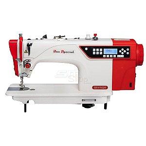 Máquina de Costura Reta Eletrônica Sun Special SS18E-D4-PR-QI com Kit Calcadores + Bobinas + Agulhas