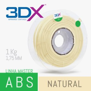 Filamento ABS 1kg 1,75 Natural
