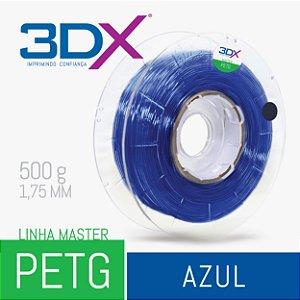 Filamento PETG 500g 1,75 Azul Translucido