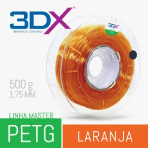 Filamento PETG 500g 1,75 Laranja Translucido (ambar)