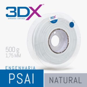Filamento PS AI 500g 1,75 Natural (HIPS - Solúvel)
