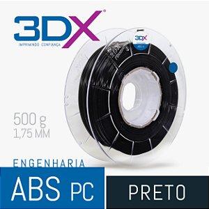 Filamento ABS PC 500g 1,75 Preto