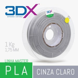 Filamento PLA HT 1kg 1,75 Cinza Claro