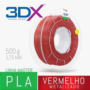 Filamento PLA HT 500g 1,75 Vermelho Metal