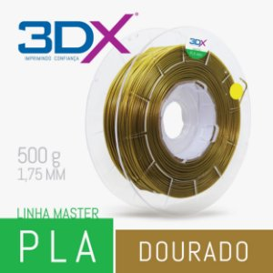 Filamento PLA HT 500g 1,75 Dourado