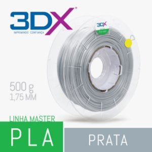 Filamento PLA HT 500g 1,75 Prata