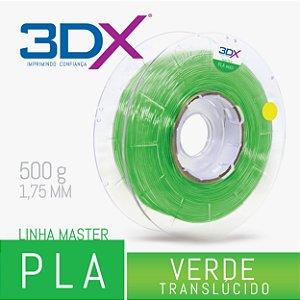 Filamento PLA C 500g 1,75 Verde Translucido