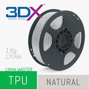 Filamento TPU Flexível D40 1kg 1,75 Natural (Realmaker)
