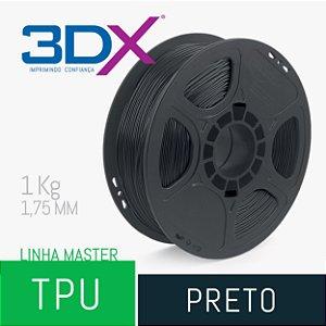 Filamento TPU Flexível D40 1kg 1,75 Preto (Realmaker)