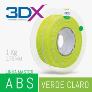 Filamento ABS 1kg 1,75 Verde Abacate