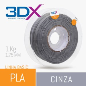 Filamento Pla Cinza 1,75 Mm 1kg Basic Full