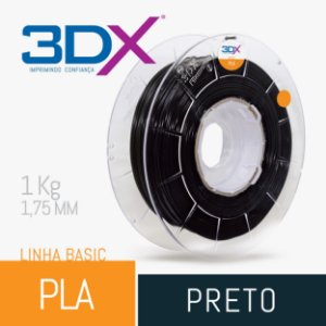 Filamento Pla Preto 1,75 Mm 1kg Basic Full