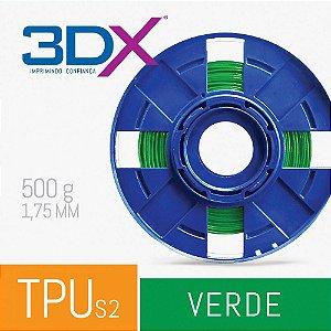 Filamento TPU S2 D60 Flexível 500g 1,75 Verde