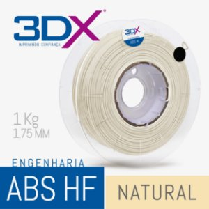 Filamento ABS HF 1kg 1,75 Natural
