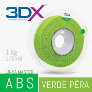 Filamento ABS 1kg 1,75 Verde Pera