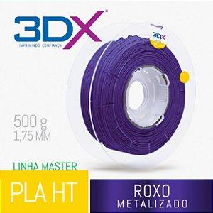 Filamento PLA HT 500g 1,75 Roxo Metal