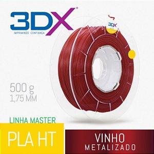 Filamento PLA HT 500g 1,75 Vinho Metal
