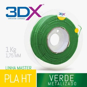 Filamento PLA HT 1kg 1,75 Verde Metal