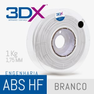 Filamento ABS HF 1kg 1,75 Branco