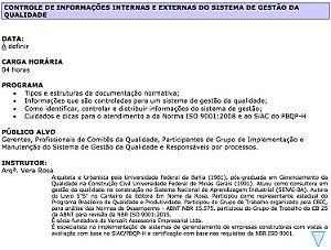 1020 Controle de Informações Internas e Externas do Sistema de Gestão da Qualidade