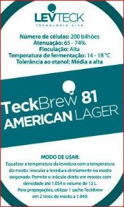 FERMENTO LEVTECK  - AMERICAN LAGER - TB81