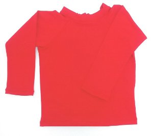 camiseta longa vermelha