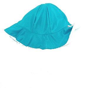 Chapéu dupla-face azul claro +branco