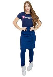 Calça com Saia Moda Evangélica Fitness Azul Anagrom Ref.7007