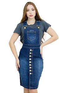 Jardineira Jeans Evangélica Botões Frontal Anagrom Ref.4049