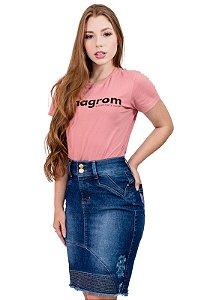 Saia Jeans Destroyed Barra Listra Evangélica Anagrom Ref.192
