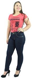 Calça Jeans Feminina Tradicional Azul Escuro Ref.1008