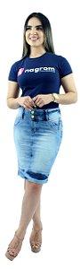Saia Jeans Evangélica Zíper na Barra Ref.046